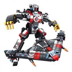 PanlosBrick 620006 Panlos Brick 620006 Xếp hình kiểu Lego SUPER WARRIOS Super Warrior Change Warrior Invisible Fighters, Times Machines 8 Combinations Máy Bay Chiến đấu Tàng Hình, Kết Hợp Thời đại Mec