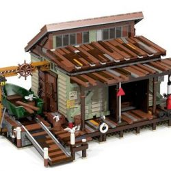 URGE 30106 PANGU PG-12004 12004 PG12004 Xếp hình kiểu Lego TOWN Old Fisherman Shipyard Xưởng đóng Tàu 2621 khối