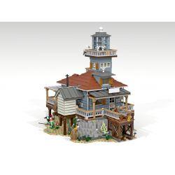 URGE 30105 PANGU PG-12002 12002 PG12002 Xếp hình kiểu Lego TOWN The Lighthouse Street View Old Fishing House Lighthouse Fishing House Nhà Câu Cá Cũ 5123 khối