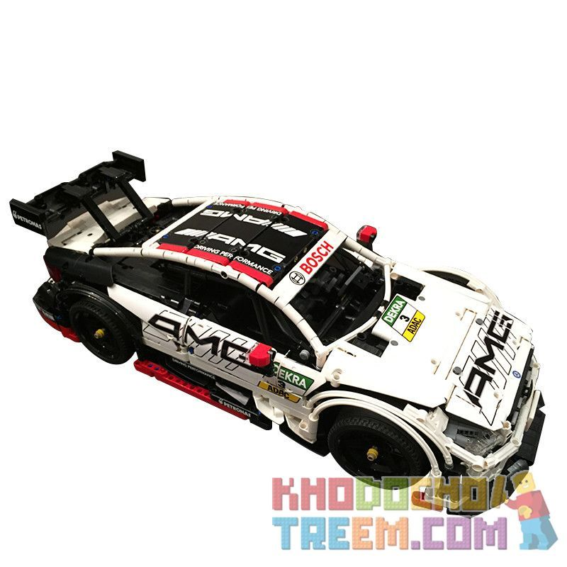 MOULDKING 13073 13075 QIZHILE 23012 REBRICKABLE MOC-6687 6687 MOC6687 MOC-6688 6688 MOC6688 Xếp hình kiểu Lego TECHNIC Mercedes-Benz AMG C63 DTM Xe Đua Mercedes-Benz C63 AMG gồm 2 hộp nhỏ 1970 khối đi
