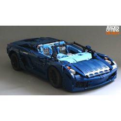 REBRICKABLE MOC-31199 31199 MOC31199 Xếp hình kiểu Lego TECHNIC Convertible Supercar Siêu xe mui trần 2728 khối