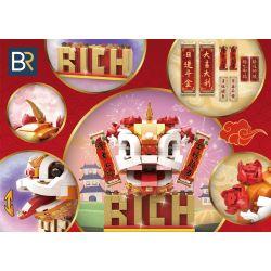 BR 601000 6001 Xếp hình kiểu Lego SEASONAL National Tide Lion Head Lion Sư Tử Thức Dậy gồm 2 hộp nhỏ 300 khối
