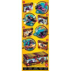 FROG BABY OBM 99616 Xếp hình kiểu Lego MONKIE KID Qi Tian Da Sheng Sun Wukong 4 Combination Of Cattle Demon Monkey King Monkey King 4 Kết Hợp Bull Demon King 357 khối
