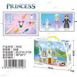 CHAOBAO 7010 Xếp hình kiểu Lego Ellendale Castle Frozen Alan Dell Castle Celebration Lễ Kỷ Niệm Lâu đài Ellendale 365 khối