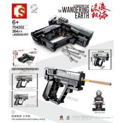 SEMBO 704202 Xếp hình kiểu Lego THE WANDERING EARTH The Wandering Earth Small Pistol Súng Lục Nhỏ 364 khối