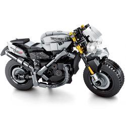 SEMBO 701113 Xếp hình kiểu Lego MOTO Triumph Frog Enjoy The Ride Triumph Motorcycle Triumph Motorcycle. 235 khối
