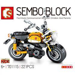 SEMBO 701115 Xếp hình kiểu Lego MOTO Enjoy The Ride Honda Monkey Motorcycle Xe Máy Honda Monkey 221 khối