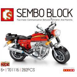 SEMBO 701116 Xếp hình kiểu Lego MOTO Honda Monkey CB750 Enjoy The Ride Honda CB750 Honda CB750. 282 khối