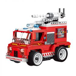 WISE BLOCK HA389045 389045 Xếp hình kiểu Lego FIRE RESCURE Cyclone Rescue Remote Control Fire Truck Lốc Xoáy Cứu Hộ Xe Cứu Hỏa điều Khiển Từ Xa 263 khối