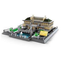 WANGE 5226 Xếp hình kiểu Lego ARCHITECTURE The Imperial Hotel Of Tokyo Landmark Building Japanese Empire Hotel Khách Sạn Imperial 1373 khối