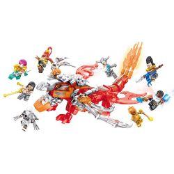 SHENG YUAN SY SY1480 1480 Xếp hình kiểu Lego COLLECTABLE MINIFIGURES League Of Legends Synthetic Shenlong 8 People Combination Tổng Hợp Các Kết Hợp Minifigure Dragon 8 343 khối