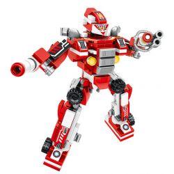 PanlosBrick 605001 Panlos Brick 605001 Xếp hình kiểu Lego TRANSFORMERS Assembly Robot Six Combinations Of Fire-fighting Body Deformation Robots 6 Tổ Hợp Robot Chữa Cháy 271 khối