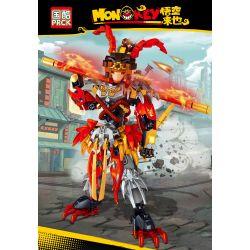 PRCK 69751 Xếp hình kiểu Lego MONKIE KID Monkey Wukong Comes Sun Wukong Vua Khỉ 316 khối