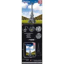 HAPPY BUILD YC-20001 20001 YC20001 Xếp hình kiểu Lego ARCHITECTURE Architecture The Eiffel Tower Landmark Building France Paris Eiffel Tower 1 400 Tháp Eiffel ở Paris, Pháp 1 400 1212 khối