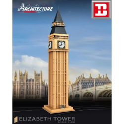 HAPPY BUILD YC-20002 20002 YC20002 Xếp hình kiểu Lego ARCHITECTURE Architecture Elizabeth Tower Landmark Building Big Ben 1 400, London, UK Big Ben, London, Vương Quốc Anh 1 400 1303 khối