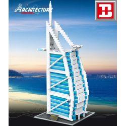 HAPPY BUILD YC-20004 20004 YC20004 Xếp hình kiểu Lego ARCHITECTURE Architecture Burjal Arab Landmark Building Araba Hotel (Dubai Sailboat Hotel) 1 400 Khách Sạn Burj Al Arab (Khách Sạn Burj Al Arab) 1
