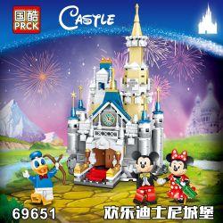 PRCK 69651 Xếp hình kiểu Lego CASTLE Mini Disney Castle Lâu đài Disney Nhỏ 348 khối
