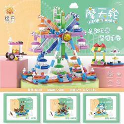 YURI 66111 Xếp hình kiểu Lego CITY MODERN PARADISE Playground Ferris Wheel Đu Quay 624 khối