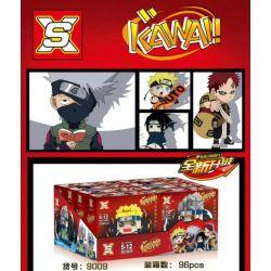SX 9009-1 9009-2 9009-3 9009-4 Xếp hình kiểu Lego KAWAI Naruto Dad Tread 4 Swirls, Flag, Kakasi, Yuxi, I Love Đầu To Có 4 Loại Naruto Uzumaki, Kakashi Hagi, Sasuke Uchiha, Gaara gồm 4 hộp nhỏ 920 khối