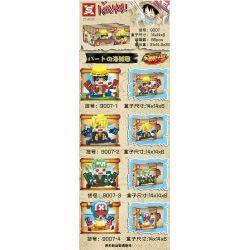 SX 9007-1 9007-2 9007-3 9007-4 Xếp hình kiểu Lego COLLECTABLE MINIFIGURES KAWAI One Piece Dad Tread 4 Lufei, Shanzhi, Soon, Choba Đầu To Hình Nhỏ 4 Luffy, Sanji, Zoro, Chopper gồm 4 hộp nhỏ 800 khối