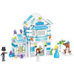 ZHEGAO QL1140 1140 Xếp hình kiểu Lego WINASOR CASTLE Windsor Castle Ice Snow Season Lily Silky Ice House Ngôi Nhà Băng Lily Mượt 351 khối
