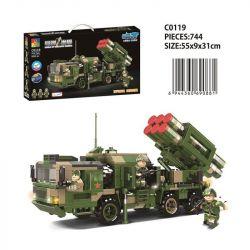 CHAOSHENG C0119 0119 WOMA C0119 0119 Xếp hình kiểu Lego WORLD OF BALLISTIC MISSILE Missile World Red Flag -16 Traine Air Defense Missile Xe Phóng Tên Lửa Phòng Không Tầm Trung Và Tầm Ngắn Hongqi-16 74