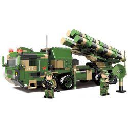 CHAOSHENG C0118 0118 WOMA C0118 0118 Xếp hình kiểu Lego WORLD OF BALLISTIC MISSILE Missile World Red Flag -9b Remote Ground Air Missile Launcher Xe Phóng Tên Lửa đất đối Không Tầm Xa Hongqi-9B 741 khố