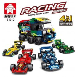 LEYI 31010A 31010B 31010C 31010D Xếp hình kiểu Lego RACING Passion Car F1 Rescue Big Truck 4 Combinations Xe Cứu Hộ F1 4 Tổ Hợp gồm 4 hộp nhỏ 661 khối