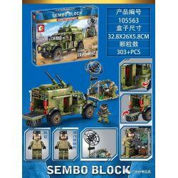 SEMBO 105563 Xếp hình kiểu Lego IRON BLOOD HEAVY EQUIPMENT Iron Plate Dongfeng Warrior Armor Communication Command Vehicle Xe Chỉ Huy Liên Lạc Bọc Thép Chiến Binh Dongfeng 303 khối