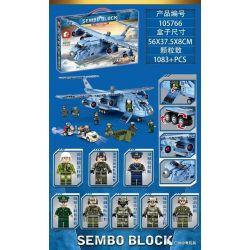 SEMBO 105766 Xếp hình kiểu Lego IRON BLOOD HEAVY EQUIPMENT Iron Plate Yun-20 Strategic Transporter Máy Bay Vận Tải Chiến Lược Yun-20 1083 khối