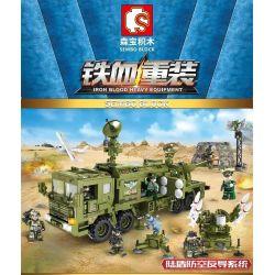 SEMBO 105780 Xếp hình kiểu Lego IRON BLOOD HEAVY EQUIPMENT Iron Plate Lu Shield Air Defense Hệ Thống Phòng Không Và Phòng Thủ Tên Lửa Land Shield 1196 khối