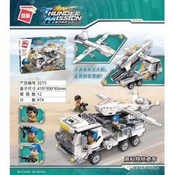 Enlighten 3215 Qman 3215 Xếp hình kiểu Lego Thunder Mission High-tech Investigator Xe Trinh Sát Công Nghệ Cao 474 khối