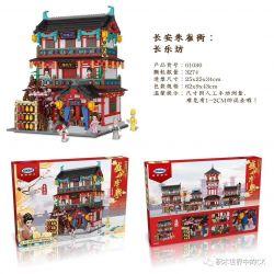 XINGBAO 01030 Xếp hình kiểu Lego CHINATOWN 盛世唐朝 Changan Suque Street Changle Square Quảng Trường Changle. 3274 khối