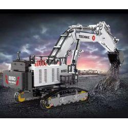 HAPPY BUILD YC-GC004 GC004 YCGC004 Xếp hình kiểu Lego BUILD TEAM ShineYU KY Excavator Yudu House Excavator 1 17 Máy Xúc 1 17 4416 khối