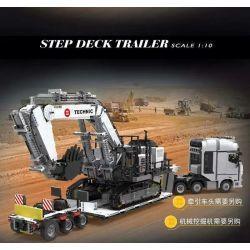 HAPPY BUILD YC-GC006 GC006 YCGC006 Xếp hình kiểu Lego BUILD TEAM ShineYU Step Deck Trailer Yudu House Hook Machine 2 10 Máy Móc Pallet 1 10 1501 khối