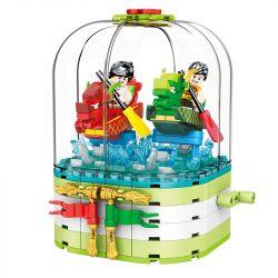 SEMBO 601135 Xếp hình kiểu Lego SEASONAL Sailboat Dragon Boat Festival Gift Box Đua Thuyền Rồng Hộp Quà Lễ Hội Thuyền Rồng 370 khối