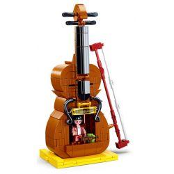 SLUBAN M38-B0817 B0817 0817 M38B0817 38-B0817 Xếp hình kiểu Lego CHINATOWN Odd Hut Violin Store Cửa Hàng Vĩ Cầm 308 khối