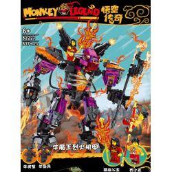 BLANK 82221 Xếp hình kiểu Lego MONKIE KID Monky Lengend Goku Legend Niu Devil King Roker Niu Quỷ Vua Roker 837 khối