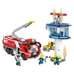 FORANGE FC3109 3109 Xếp hình kiểu Lego FIRE RESCURE Fire Fighters Rapid Rescue Airport Fire Truck Xe Cứu Hỏa Sân Bay 630 khối