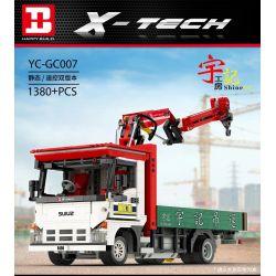 HAPPY BUILD YC-GC007 GC007 YCGC007 Xếp hình kiểu Lego BUILD TEAM X-Tech Crane Lorry Yudu House Small Crane Cần Cẩu Nhỏ 1380 khối