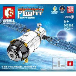 SEMBO 203303 Xếp hình kiểu Lego SPACE EXPLORATION Space Flight Aerospace Manned Space Test Platform Nền Tảng Thử Nghiệm Không Gian Có Người Lái 1002 khối