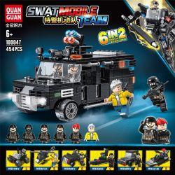 QUANGUAN 100047 Xếp hình kiểu Lego SWAT SPECIAL FORCE SWAT Mobile Team Special Police Machine 6 Combined Special Police Charger, Special Police Helicopter, Special Police Jeep, Special Police Patrol S