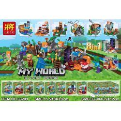 LELE 33209 Xếp hình kiểu Lego MINECRAFT My World Minifigures 8 Styles 8in1 Minifigures 8 Kiểu 8in1