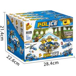 PanlosBrick 681003A Panlos Brick 681003A Xếp hình kiểu Lego Police Jungle Mountain Bike Xe đạp Leo Núi Trong Rừng 191 khối