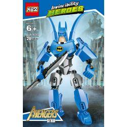 XSZ KSZ 505 Xếp hình kiểu Lego MARVEL SUPER HEROES Invincibility Heroes Hard Classic Batman Người Dơi Cổ điển 28 khối