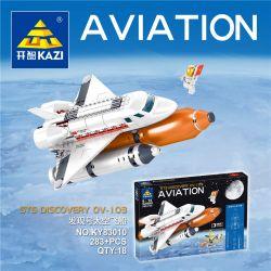 Kazi KY83010 83010 Xếp hình kiểu Lego CITY STS DISCOVERY OV-103 AVIATION Discovery Spaceship Khám Phá Tàu Vũ Trụ 283 khối