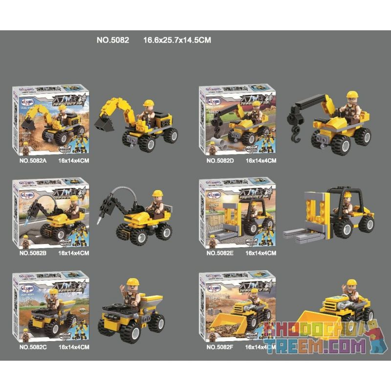 WINNER JEMLOU 5082 5082A 5082B 5082C 5082D 5082E 5082F Xếp hình kiểu Lego GOD OF WAR Hercules Six In One Mech Hercules sáu trong một Mech gồm 6 hộp nhỏ
