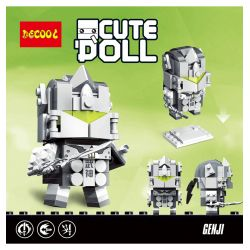 Decool 6858 Jisi 6858 Xếp hình kiểu Lego BRICKHEADZ CuteDoll Genji Watching A Pioneer Origin Gốc 139 khối