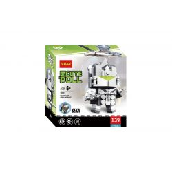 Decool 6858 Jisi 6858 Xếp hình kiểu Lego BRICKHEADZ CuteDoll Genji Overwatch Square Head Boy 139 khối