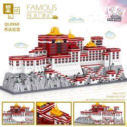 ZHEGAO QL0960 0960 Xếp hình kiểu Lego ARCHITECTURE Famous Buildings Potala Palace, Tibet, China Cung điện Potala, Tây Tạng, Trung Quốc 3649 khối